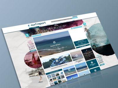 Bannières web pour Free Surf maroc