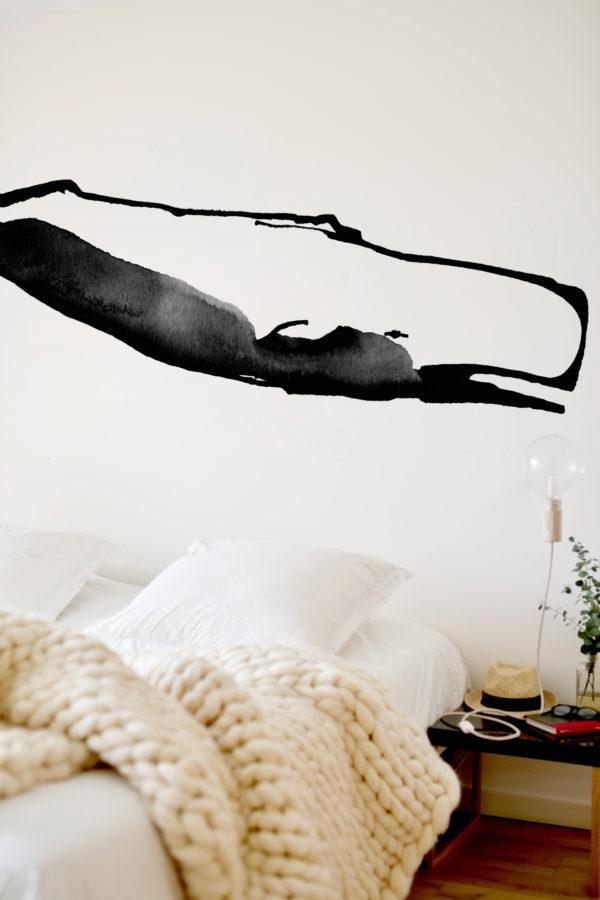 baleine-papier-peint-motif Vague Graphique illustratrice