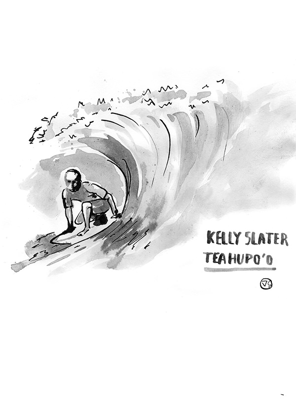 Kelly-slater-illustration-teahupoo-tahiti-vague-graphique
