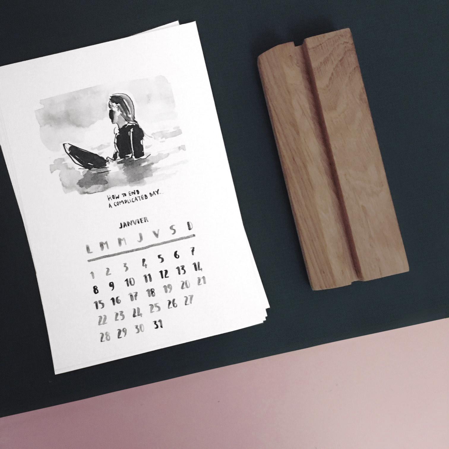 calendrier-2018-vague-graphique-canson-support-bois