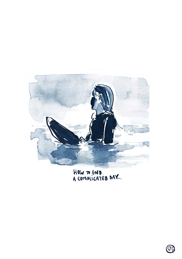 dorothee-coucher-de-soleil-surf-art-vague-graphique-studio-vannes