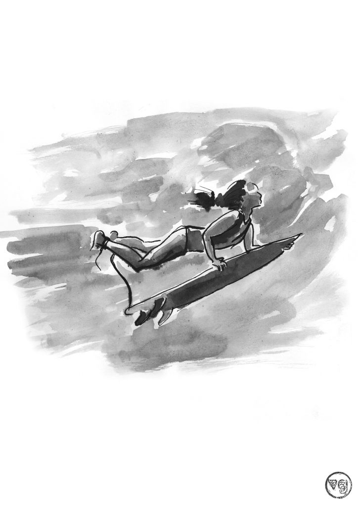 j-defay-diving-vague-graphique-illustration-surf