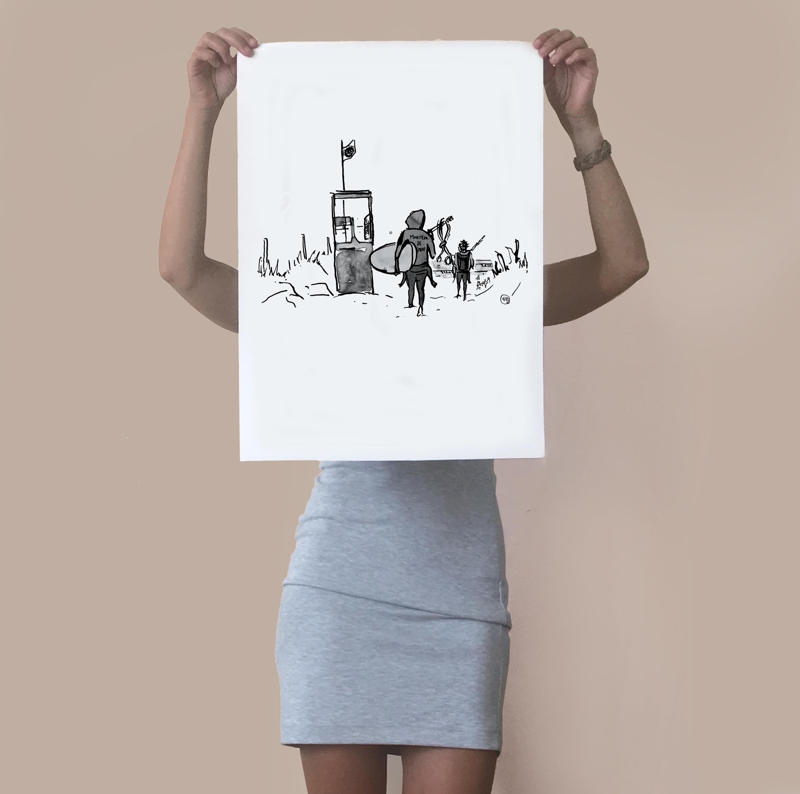 poster-guerite-vague-graphique-atelier-vannes-morbihan