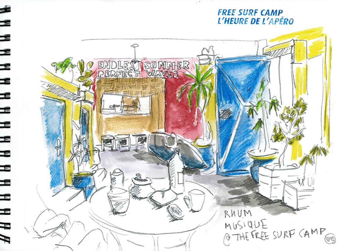 freesurfmaroc-vaguegraphique-dessins-carnet-de-voyage