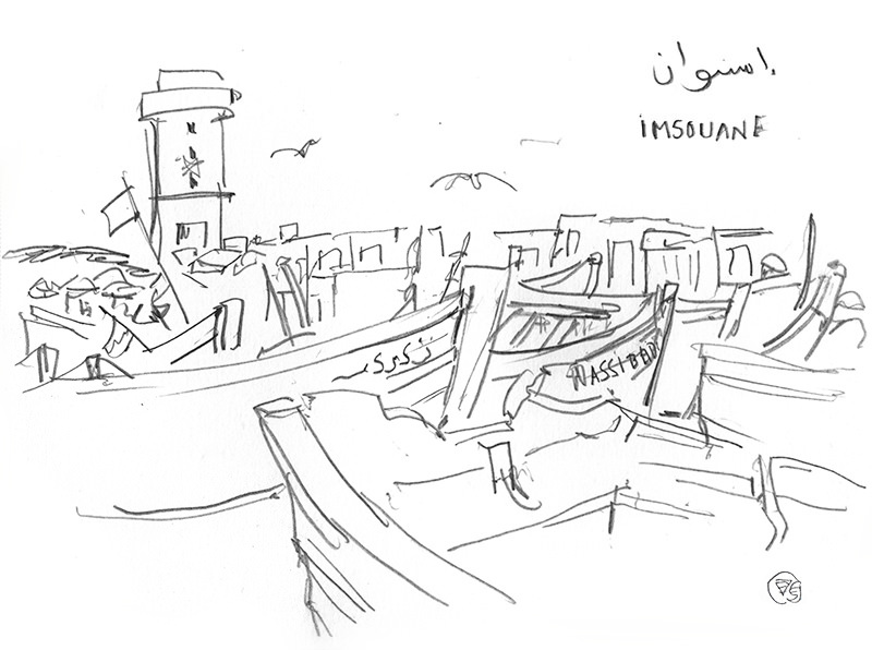 imsouane-from-port-vague-graphique-dessin