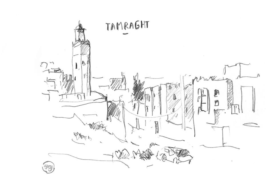 minaret-tamraght-taghazout-maroc-vaguegraphique-dessin