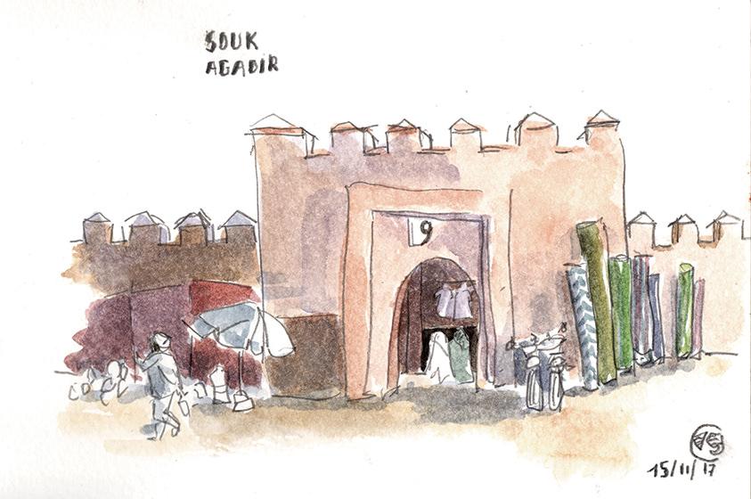 souk-agadir-dessin-maroc-vaguegraphique