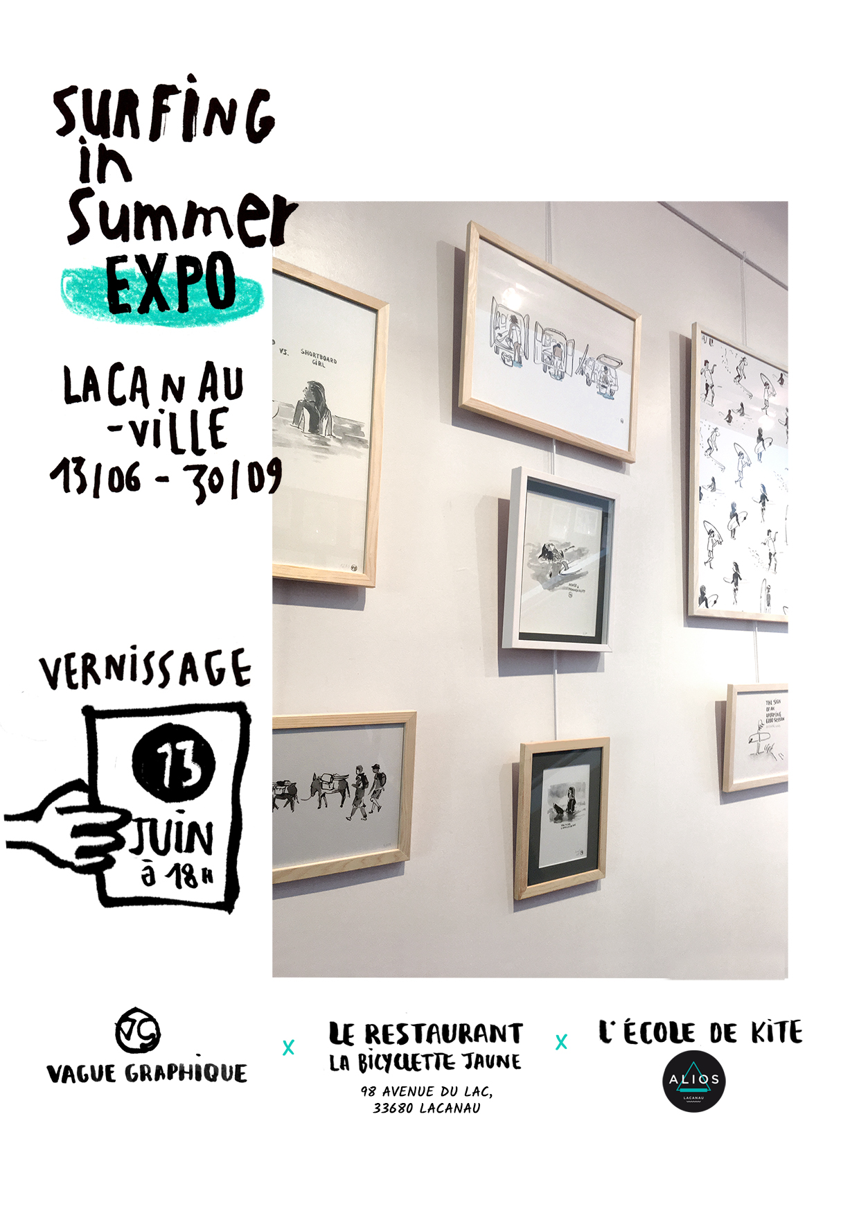 expo lacanau-vague-graphique