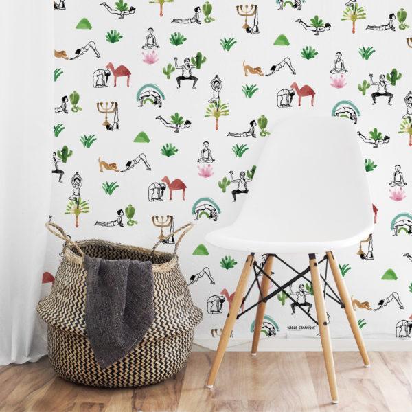 """""""Yoga people"""" wallpaper- Vague Graphique 2020 ® Tous droits réservés"""