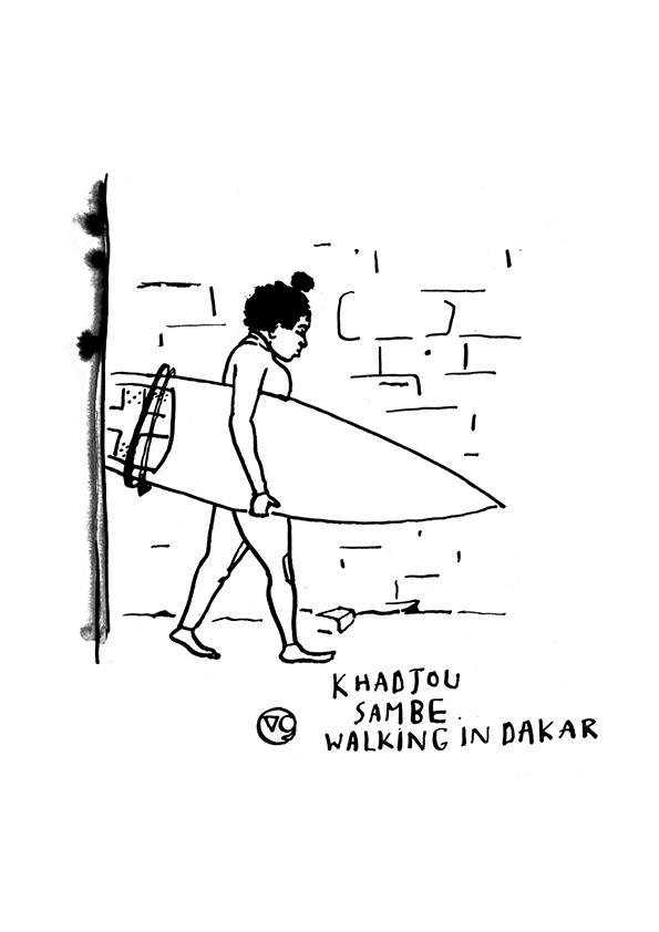 dakar-khadjou-sambe-senegal-surf-dessin-vaguegraphique