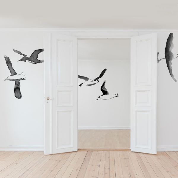 Mouettes stickers papier peint décoration intérieur