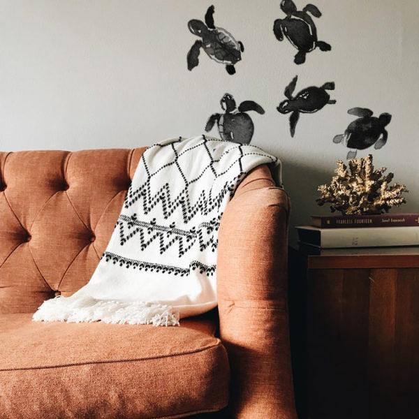 baby-turtles-wallpaper-creative-interior-design-vague-graphique