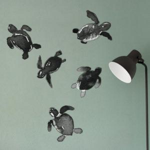 papier-peint-bebe-tortue-stickers-vague-graphique